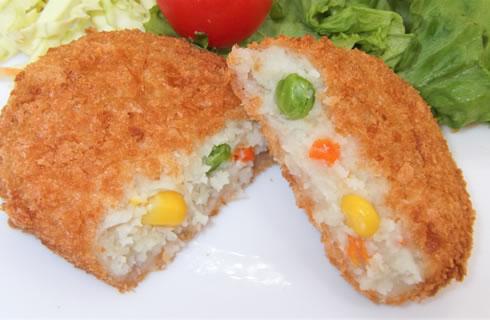 コロッケ(野菜)調理例