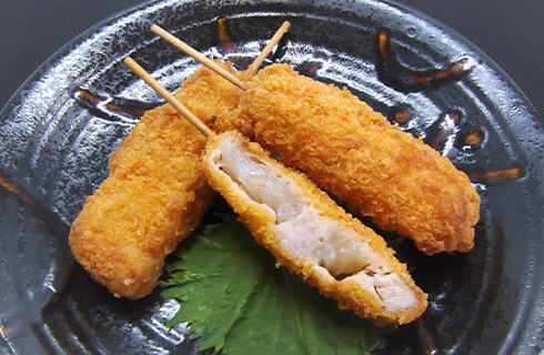 豚串カツ40調理例